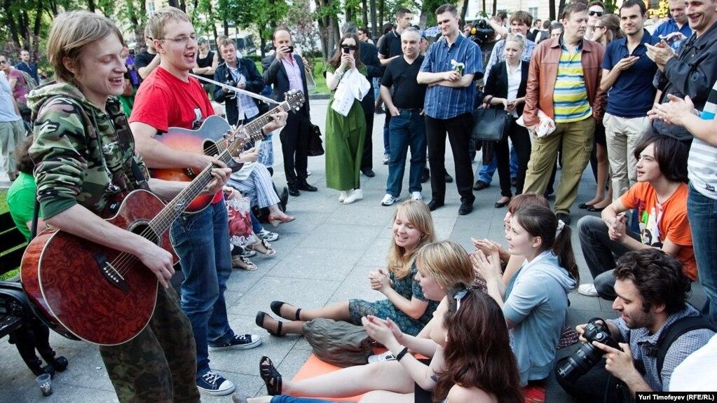 Акция Оккупай Абай в Москве