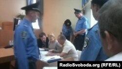 Јулија Тимошенко за време на судењето во Киев.