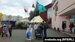 На пікеце Сяргея Мякекі, кандыдата ад кампаніі «Гавары праўду»