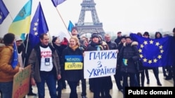Євромайдан у Парижі, фото 24 листопада 2013 року (Facebook Ioulia Shukan)