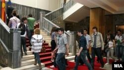 Отворен ден во македонското Собрание, граѓани во парламентот