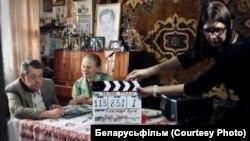 Мікалай Карачанцаў на здымачнай пляцоўцы новых «Белых Росаў»