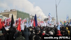 """Шествие и митинг """"За честные выборы"""" в Москве 4 февраля 2012 года."""