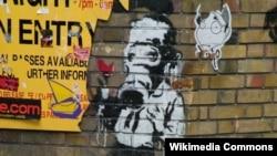 یکی از آثار بانسکی، دیوارنگار مشهور بریتانیایی
