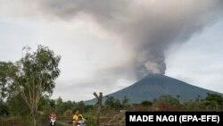 Aqunq dağı vulkanı, 27 noyabr, 2017-ci il