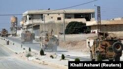 Турецькі війська в Таль-Аб'яді на півночі Сирії, фото 23 жовтня 2019 року