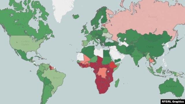 پراکندگی بیماران  مبتلا به ایدز