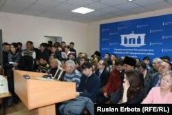 В суде по делу Болатбека Блялова. Астана, 13 января 2016 года.