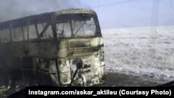 2018 йилнинг 18 январида 52 ўзбекистонлик ёниб кетган автобус.