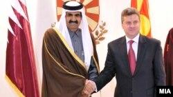 Средба на претседателот Ѓорге Иванов со Емирот на Катар, Шеик Хамад Бин Калифа Ал Тани