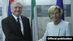 Հայաստանի և Իտալիայի արտգործնախարարների հանդիպումը, լուսանկարը՝ Հայաստանի ԱԳՆ-ի