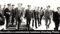 Vizita în România a preşedintelui SUA, Richard Nixon – primirea la aeroportul Otopeni. (2-3 august 1969), Fototeca online a comunismului românesc, cota 46/1969