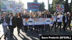 Parada ponosa, Podgorica, 13. decembar 2015.