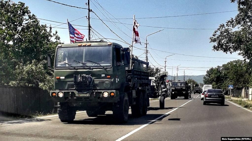 Военные НАТО прибыли в Грузию для участия в учениях Noble Partner-2018