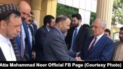 جریان دیدار زلمی خلیلزاد با عطا محمد نور و محمد محقق در بلخ