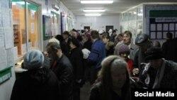 Русиядәге хастаханәләрнең берсендә теркәлү тәрәзәсенә чират