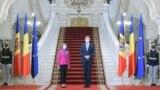 Președinții Maia Sandu și Klaus Iohannis, la Palatul Cotroceni