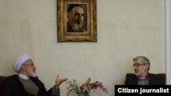 میرحسین موسوی و مهدی کروبی در یکی از دیدارهای گذشته خود