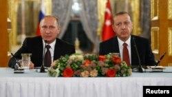 Ռուսաստանի և Թուրքիայի նախագահների համատեղ ասուլիսը Ստամբուլում, 10-ը հոկտեմբերի, 2016թ․