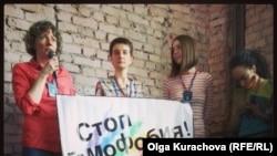 """Открытие фестиваля """"Бок о бок"""" в Москве. 18 апреля 2013 года"""