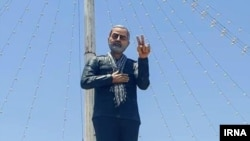 Statue of Qasem Soleimani, Commander of Sepah Quds of Iran, Jiroft, Kerman