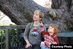 Татьяна Рябинкина с дочкой