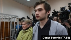 Ruslan Sokolovsky attends a court hearing in Yekaterinburg in May.