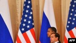 Presidenti amerikan, Barak Obama, dhe ai rus, Dmitri Medvedev