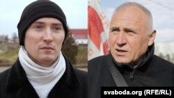 Дзьмітры Казлоў (зьлева) і Мікалай Статкевіч