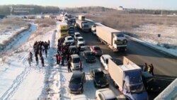 Russian Truckers Promise More Antitax Protests