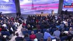 Путин рассказывает анекдот на пресс-конференции
