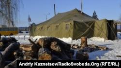 Пункт обігріву, встановлений МНС, Луганськ, 27 січня 2012 року