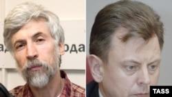 Член Центризбиркома Игорь Борисов (справа) неудачно побеседовал с журналистом Александром Минкиным