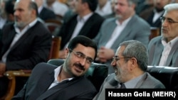 Tehran Prosecutor General Abbas Jafari Dolatabadi (R) and his predecessor Saeed Mortazavi, who has been recently indicted in death of prisoners in 2009. Undated.