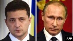 Президент України Володимир Зеленський і президент Росії Володимир Путін (комбіноване фото)