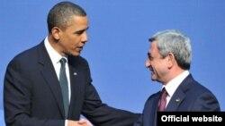 ԱՄՆ-ի նախագահ Բարաք Օբամայի եւ Հայաստանի նախագահ Սերժ Սարգսյանի հանդիպումը Վաշինգտոնում, 12-ը ապրիլի, 2010թ.