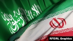 Iran -- Saudi Arabia and Iran Flags