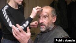 Пётр Мамонов на съёмках, 2007 год