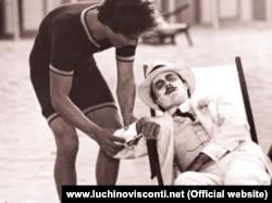 """""""Venesiyada ölüm"""" filmindən bir kadr."""