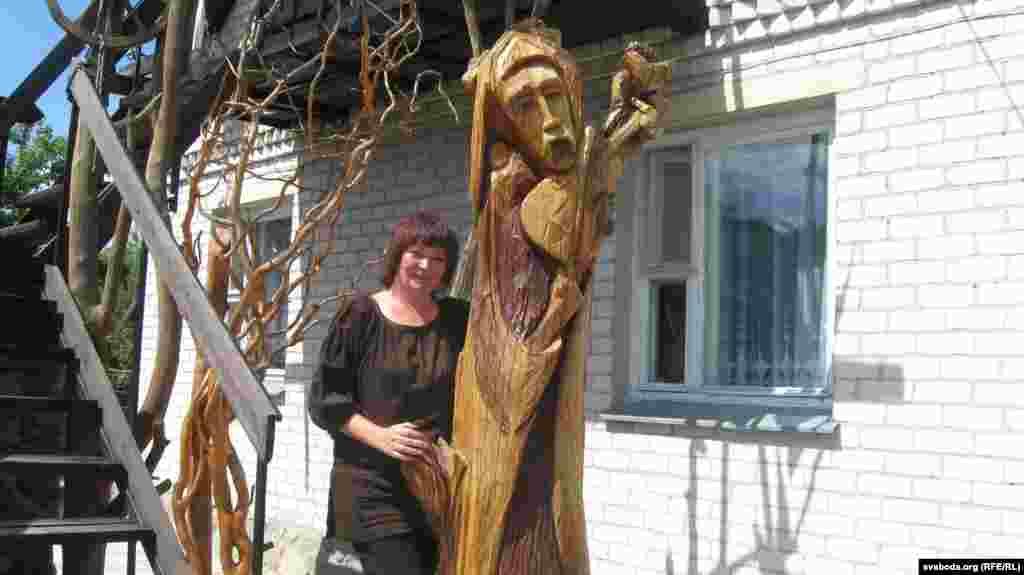 У музэі Надзеі Салейкі, дзе знаходзяцца яе керамічныя працы