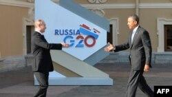 Predsednici Rusije i SAD Vladimir Putin i Barak Obama