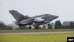 """Британия """"Ислам мамлекети"""" тобуна алгачкы соккуларын """"Tornado"""" аскер учактары менен урду. 12-август, 2014-жылы тартылган сүрөт."""