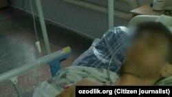 Житель Берунийского района Каракалпакстана утверждает, что оказался на больничной койке после пребывания в отделении милиции.