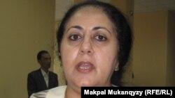Ирада Алекперова (Әзербайжан) Turkic Wikimedia conference жиынында. Алматы, 21 сәуір 2012 жыл.