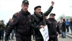 Cиловики затримали понад 100 людей на акціях на підтримку Навального в Росії (відео)