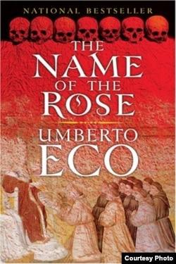 """Naslovna stranica knjige """"Ime ruže"""""""