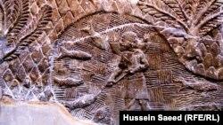 صياد من آثار أشور القرن السابع قبل الميلاد