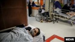 Coronavirus patients in a Tehran Hospital. March 20, 2020
