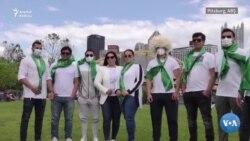 ABŞ-daky türkmenler Berdimuhamedowa garşy protest geçirdiler