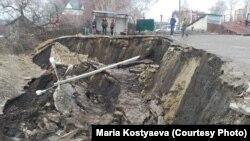 Последствия оползня в центре Ульяновска